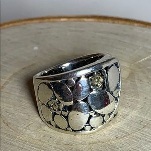 Sterling Pebble Ring